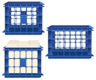 Caixa do armazenamento, e dobradores de arquivo Imagem de Stock