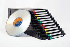 Caixa do arquivo de CD/DVD Fotografia de Stock Royalty Free