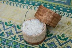 Caixa do arroz pegajoso Imagem de Stock Royalty Free