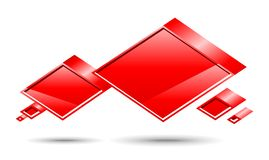 Caixa do bate-papo. Vermelho Ilustração do Vetor