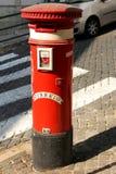 Caixa do borne em Lisboa, Portugal Imagem de Stock