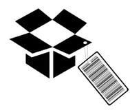 Caixa do código de barras Imagens de Stock Royalty Free
