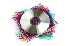 Caixa do CD ou do DVD fotos de stock royalty free