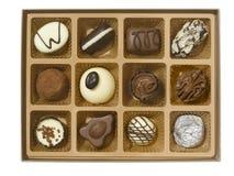 Caixa do chocolate Foto de Stock Royalty Free