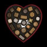 Caixa do chocolate Imagens de Stock