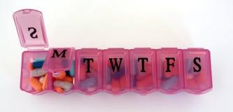 Caixa do comprimido Imagens de Stock