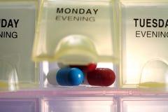 Caixa do comprimido Imagens de Stock Royalty Free