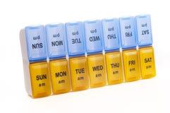 Caixa do comprimido Fotografia de Stock Royalty Free