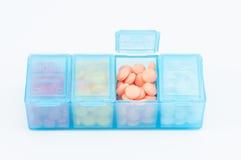 Caixa do comprimido Imagem de Stock Royalty Free