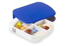 Caixa do comprimido Fotografia de Stock