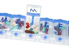 Caixa do comprimido para a medicamentação Foto de Stock Royalty Free