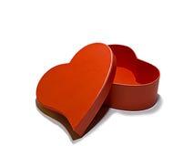Caixa do coração Fotos de Stock Royalty Free