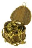 Caixa do coração aberta, isolado Imagem de Stock Royalty Free