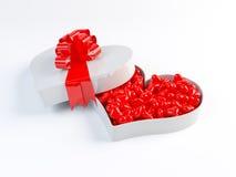 Caixa do coração com faixa Fotografia de Stock Royalty Free