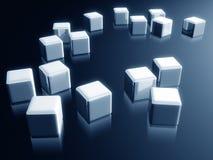 Caixa do cubo com elemento decorativo do projeto da reflexão Imagem de Stock Royalty Free