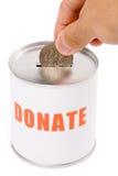 Caixa do dólar e da doação Imagens de Stock Royalty Free