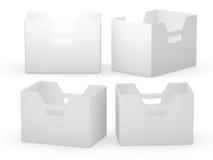 Caixa do dobrador do Livro Branco com trajeto de grampeamento ilustração royalty free