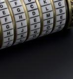Caixa do enigma da combinação Fotos de Stock