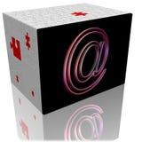 caixa do enigma do email 3d Foto de Stock