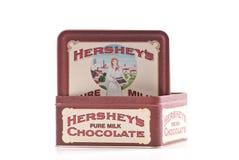 Caixa do estanho de Hershey Fotografia de Stock