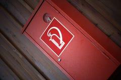 Caixa do extintor Fotografia de Stock