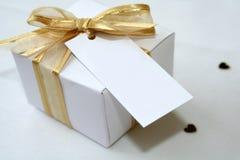 Caixa do favor do casamento Foto de Stock