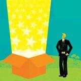 Caixa do feixe luminoso Fotos de Stock Royalty Free