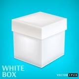 Caixa do Livro Branco Foto de Stock
