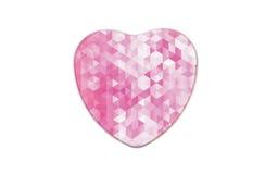 Caixa do metal na forma do coração Fotos de Stock Royalty Free