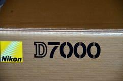 Caixa do nikon d7000 da câmera Fotografia de Stock