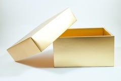 Caixa do ouro Foto de Stock Royalty Free