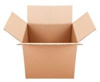Caixa do papelão no fundo branco Imagem de Stock