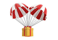 Caixa do paraquedas Fotografia de Stock