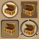 Caixa do pirata dos ícones Imagens de Stock Royalty Free