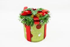 Caixa do presente de Natal Fotos de Stock