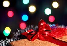 Caixa do presente de Natal Fotos de Stock Royalty Free