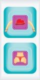 Caixa do preservativo Imagens de Stock