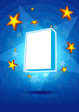 Caixa do produto da estrela Foto de Stock Royalty Free