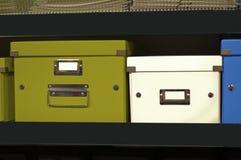 Caixa do recipiente do arquivo Imagem de Stock