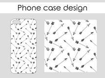 Caixa do telefone com projeto do teste padrão das setas Foto de Stock