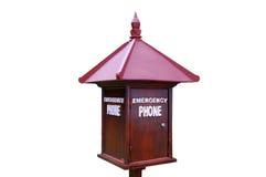 Caixa do telefone da emergência Fotografia de Stock Royalty Free