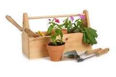 Caixa do Tote do jardineiro imagens de stock