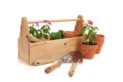 Caixa do Tote do jardineiro imagens de stock royalty free