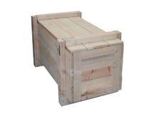 Caixa do transporte da madeira Imagens de Stock