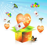 Caixa do Valentim Imagens de Stock