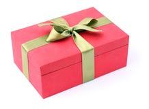 Caixa do vermelho do presente Fotografia de Stock Royalty Free