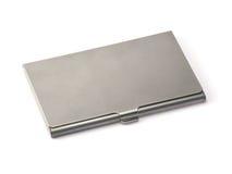 Caixa do Visitar-Cartão do metal Imagens de Stock Royalty Free