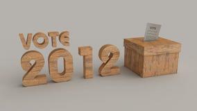 Caixa do voto das eleições 2012 Foto de Stock