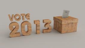 Caixa do voto das eleições 2013 Imagem de Stock Royalty Free