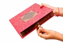 Caixa doce Wedding imagem de stock royalty free